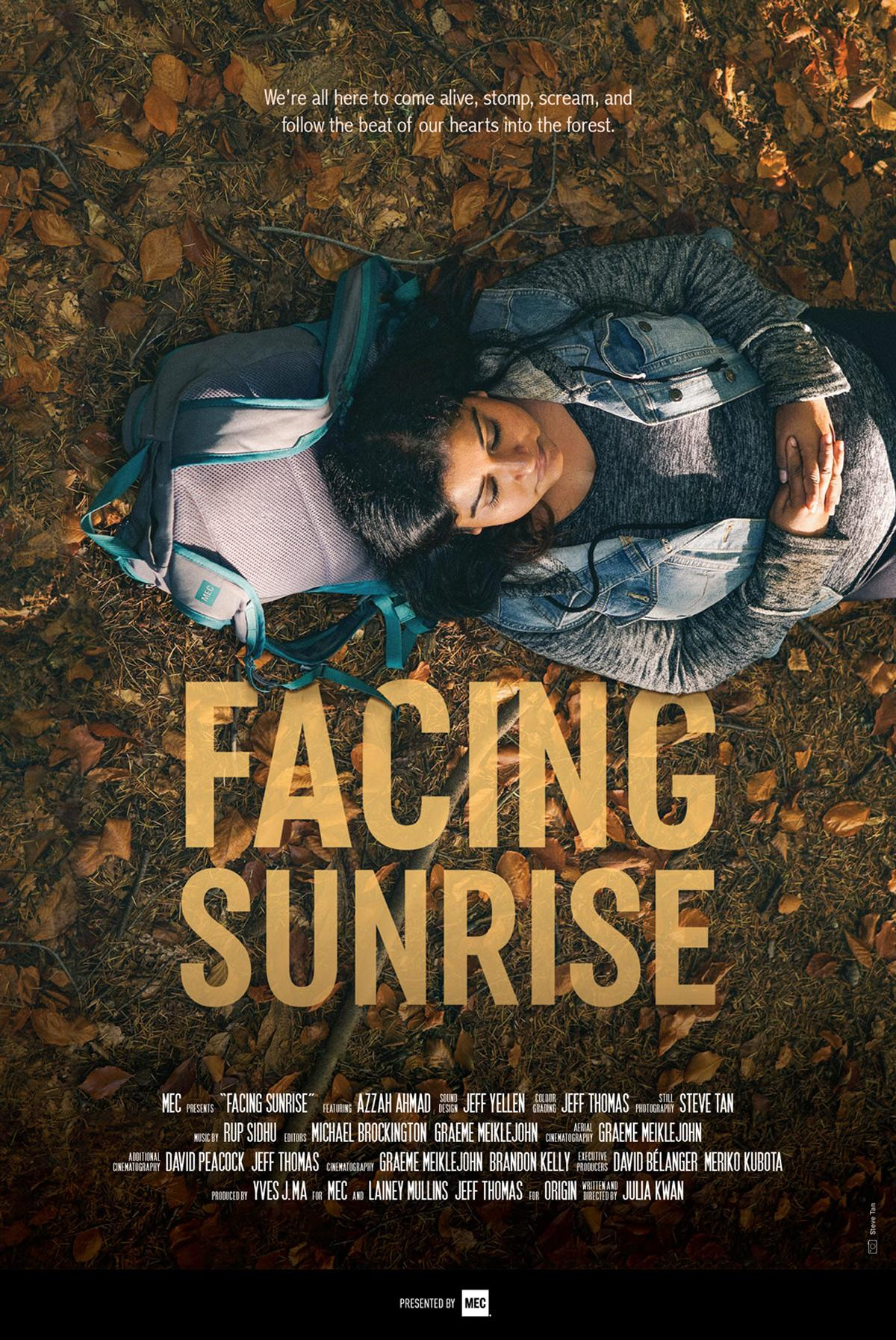 facing sunrise poster