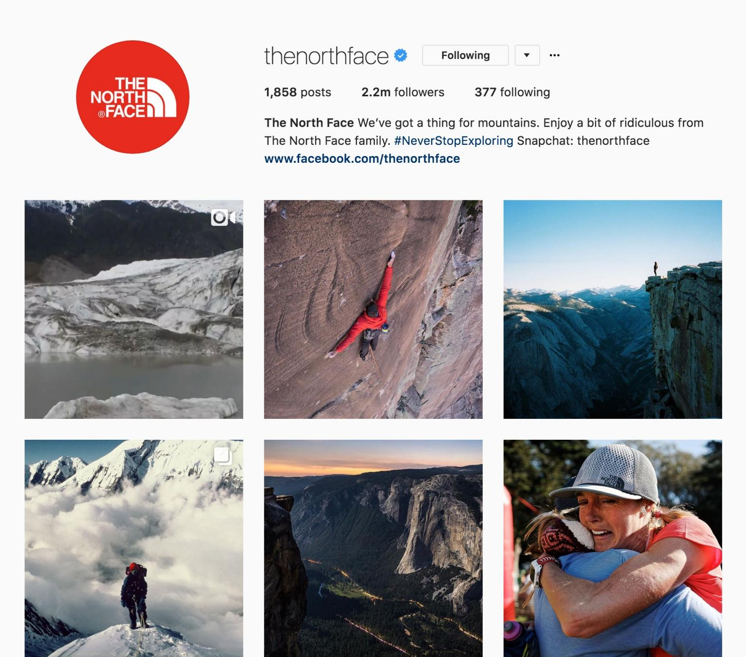 The North Face Instagram Feed
